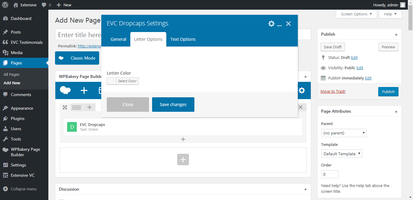 WP Realize Extensive VC plugin - Dropcaps shortcode