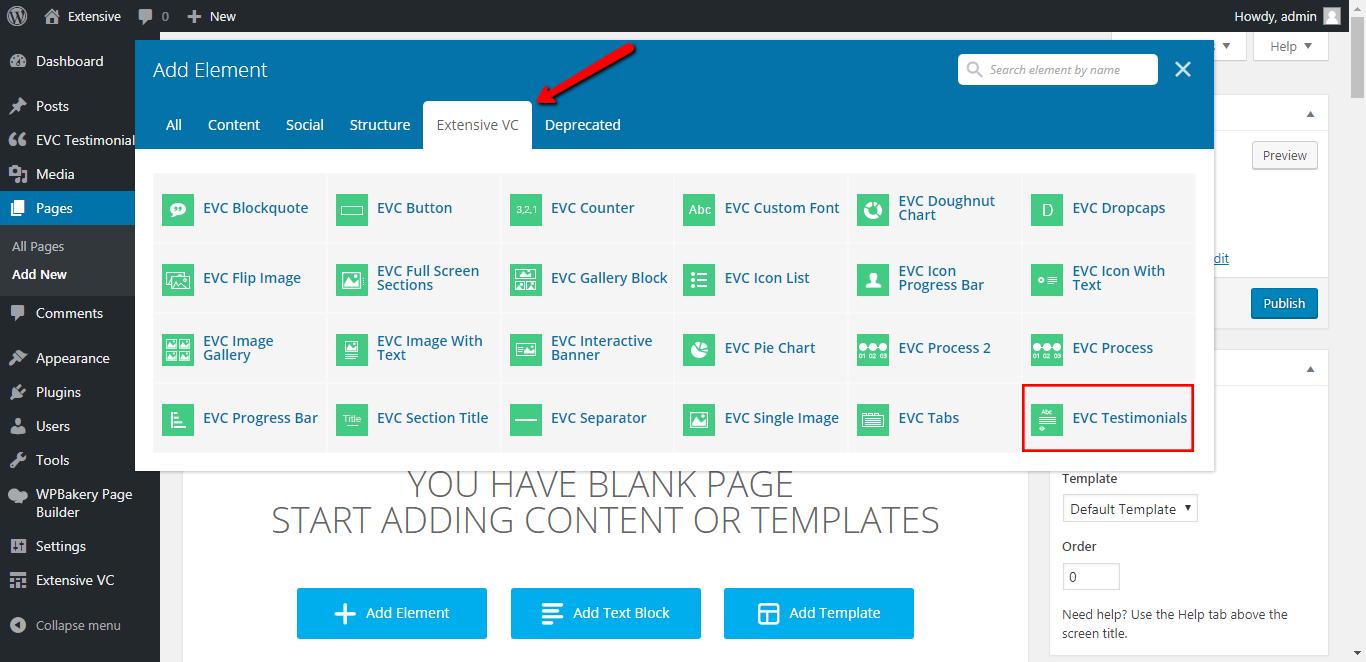 WP Realize Extensive VC plugin - Testimonials shortcode