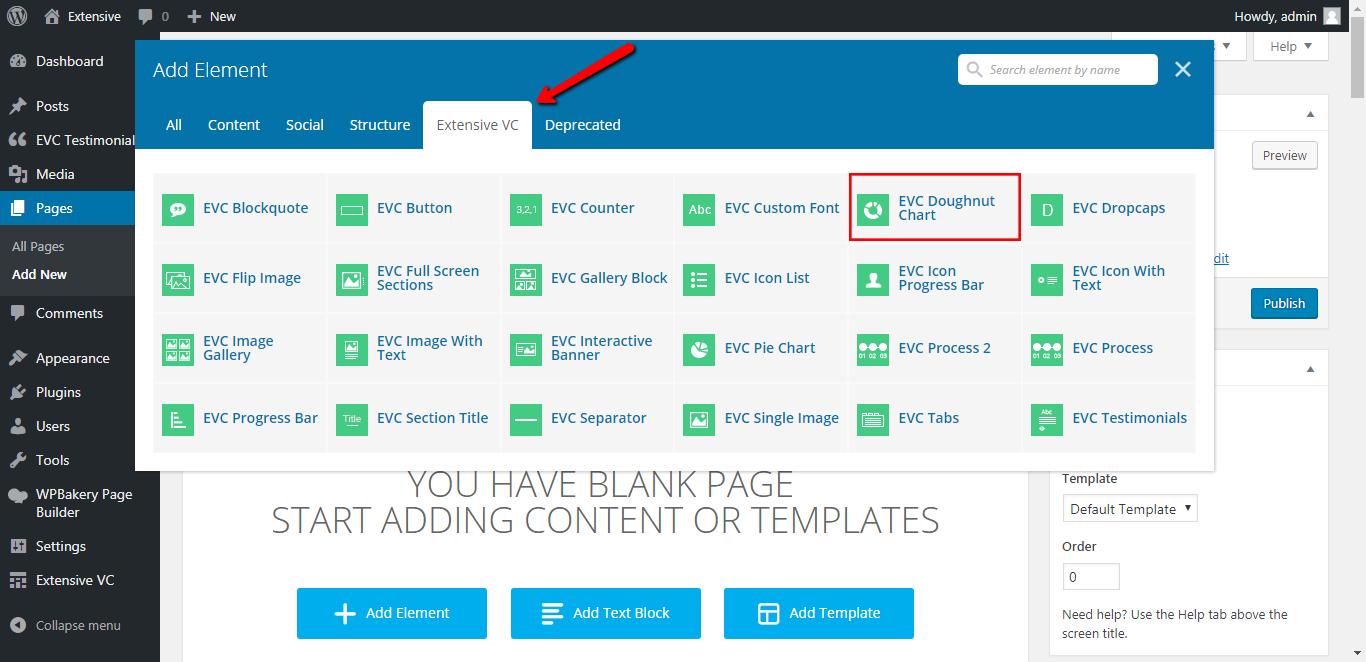 WP Realize Extensive VC plugin - Doughnut Chart shortcode