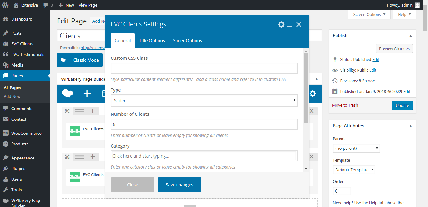 WP Realize Extensive VC plugin - Clients shortcode
