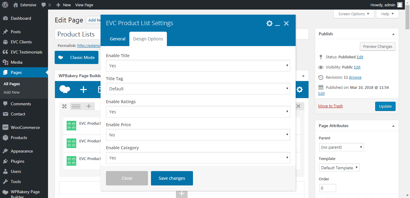 WP Realize Extensive VC plugin - Product List shortcode