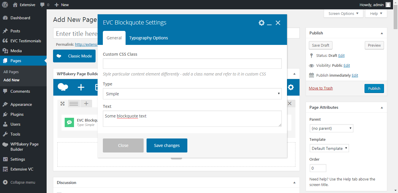 WP Realize Extensive VC plugin - Blockquote shortcode