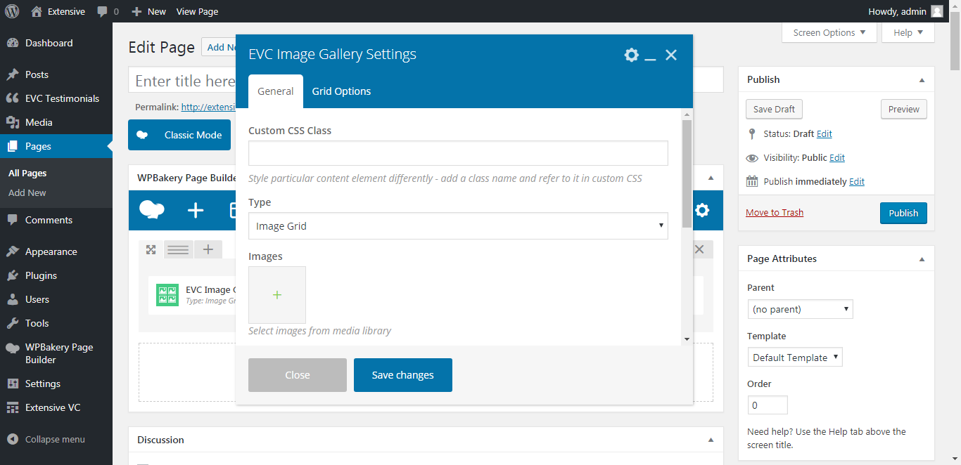 WP Realize Extensive VC plugin - Image Gallery shortcode