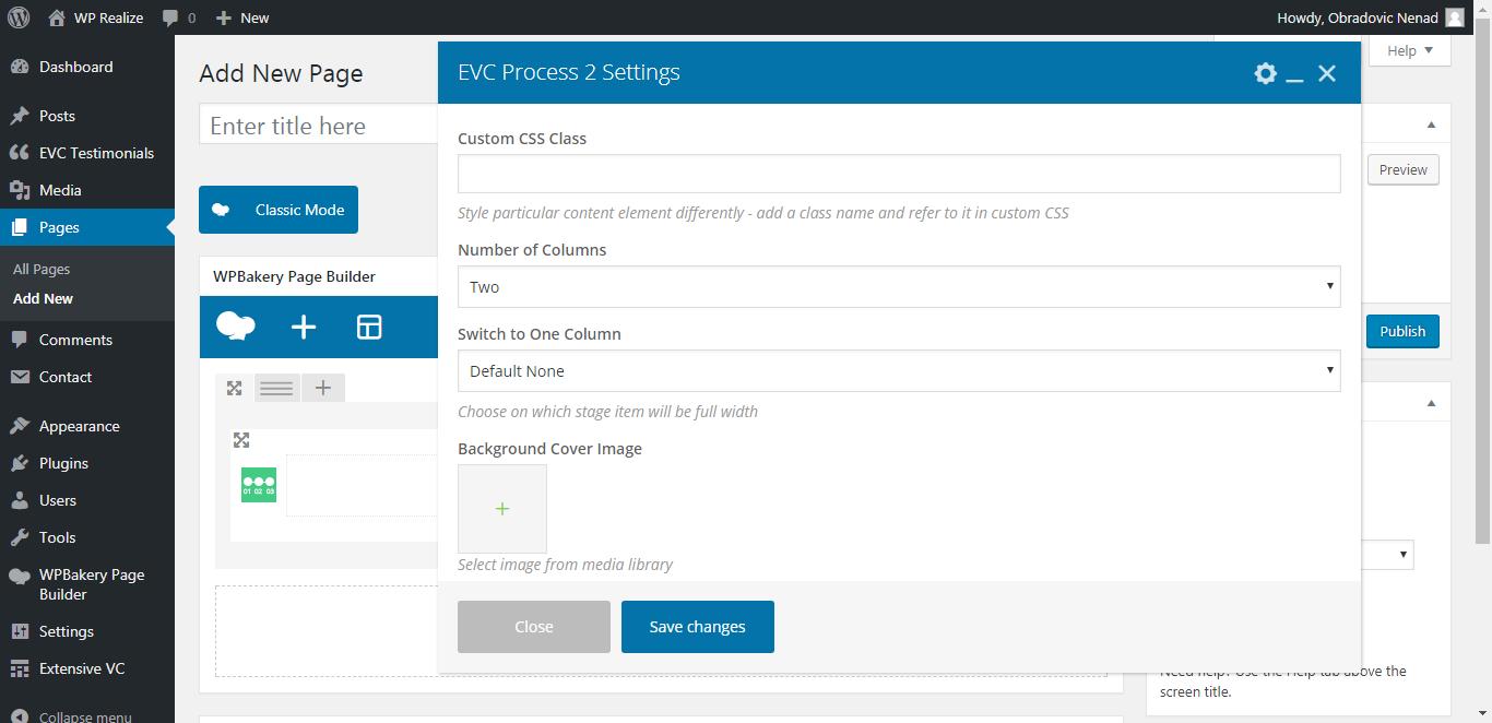 WP Realize Extensive VC plugin - Process 2 shortcode