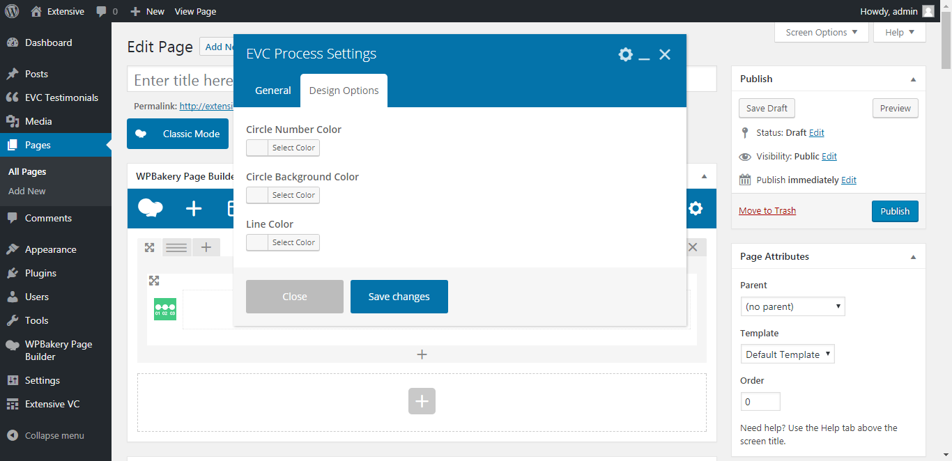 WP Realize Extensive VC plugin - Process shortcode