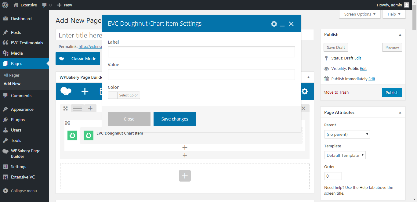 WP Realize Extensive VC plugin - Doughnut Chart shortcode
